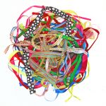 Assorted Ribbons Pack 100 Assorted Designs & Lengths - KW33444