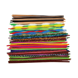 Assorted Style & Colour Pipe cleaners 6mm x 300mm PK250 - KW1183