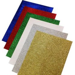 A4 Glitter Paper - 12 Sheets 6 Colours - KW13553