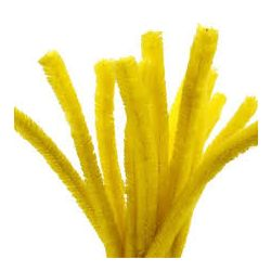 Pipecleaners Yellow 6mm x 300mm PK100 - KW1088
